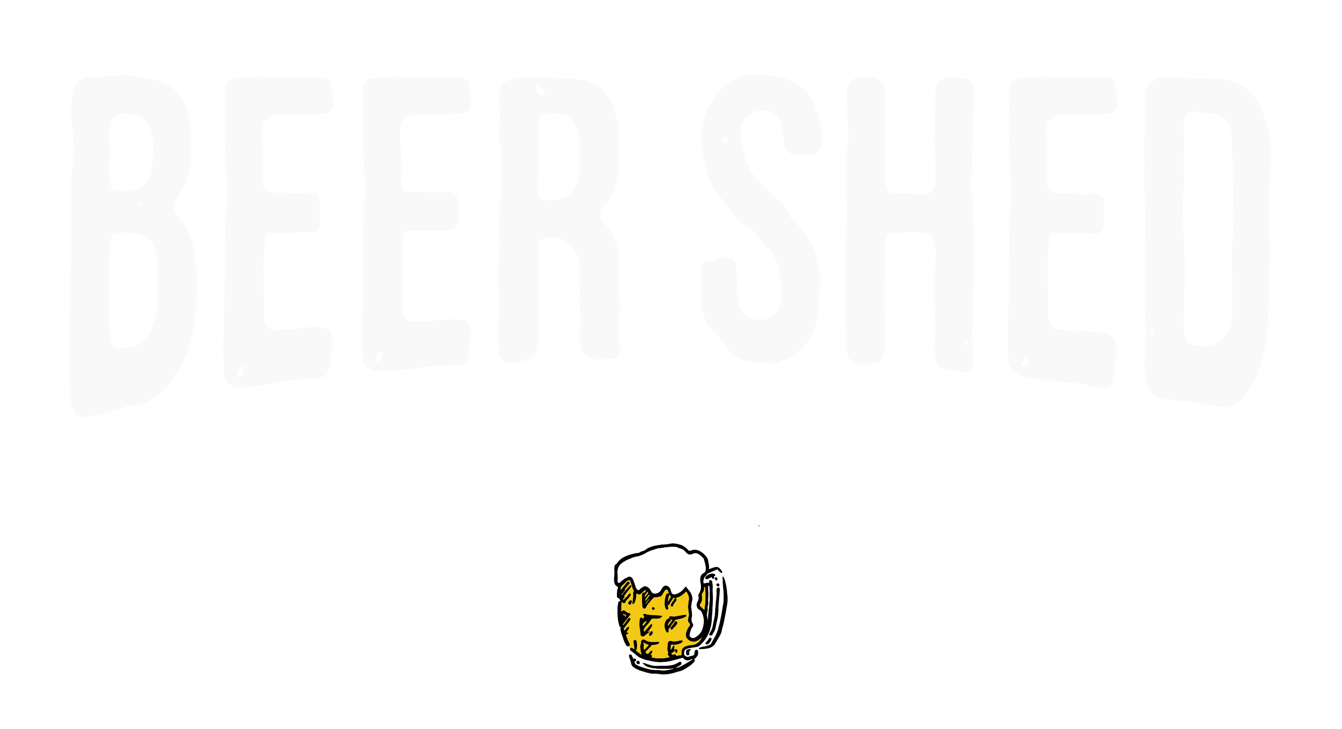 the beer shed Brewing co logo white1